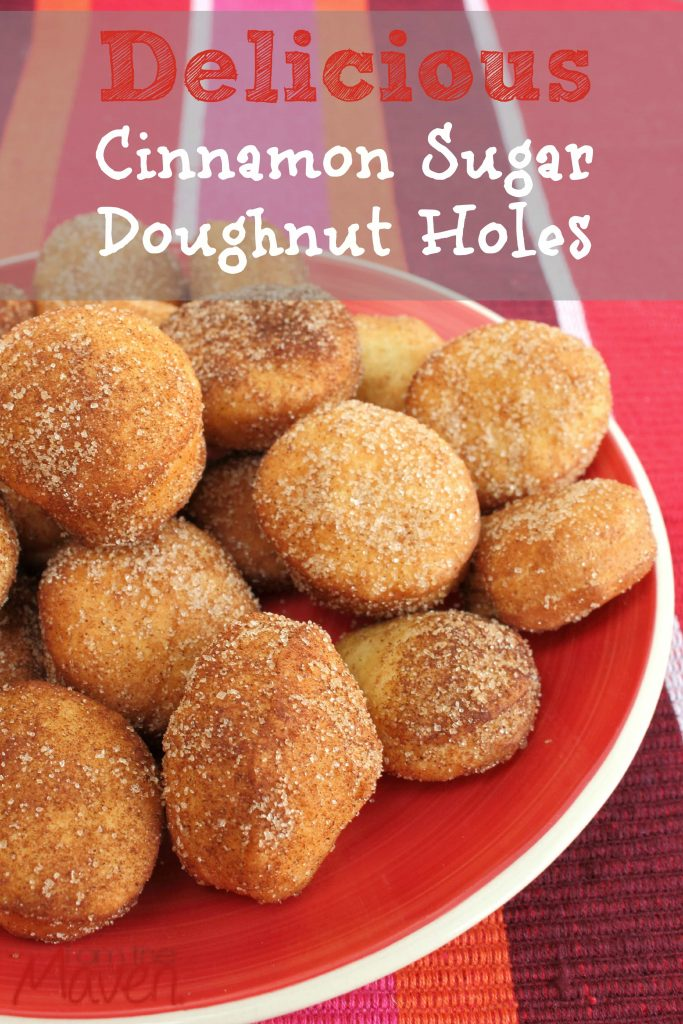 These cinnamon sugar doughnut holes are delicious and easy to make!