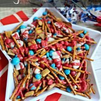 This easy Patriotic Snack Mix is perfect for the Fourth of July!