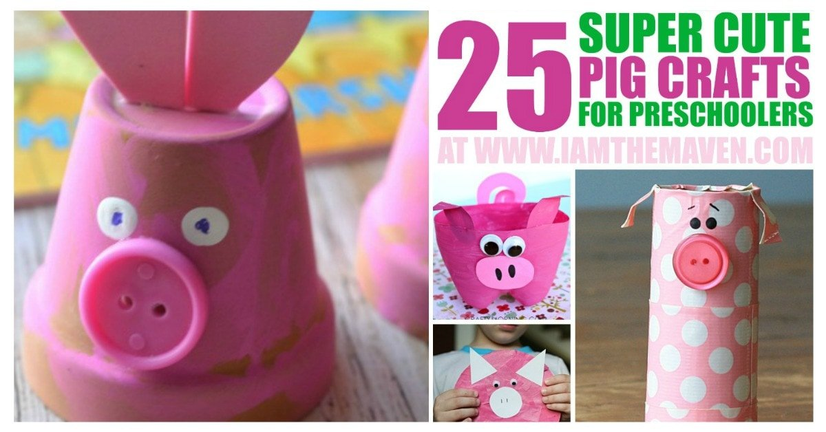 Here are pig art projects for your kids