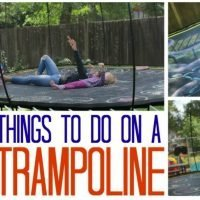 Looking for trampoline games? Here are things to do on a trampoline!