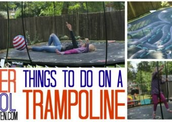 Try over 25 cool things to do on a trampoline!