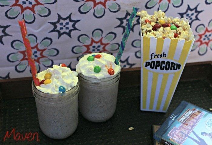Adult movie night and snacks #ShareFunshine AD