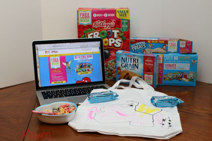 We decorated a totebag for our Scholastic Books to share with our friends at school! #Back2SchoolReady AD
