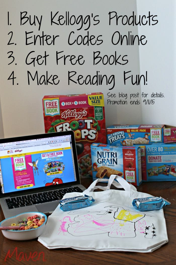 We're going to make reading fun with FREE books from Kelllogg's! It's as easy as entering codes online! #Back2SchoolReady AD