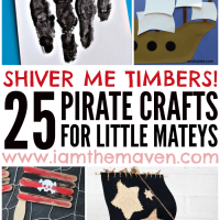 Check out these 25 super fun pirate crafts!