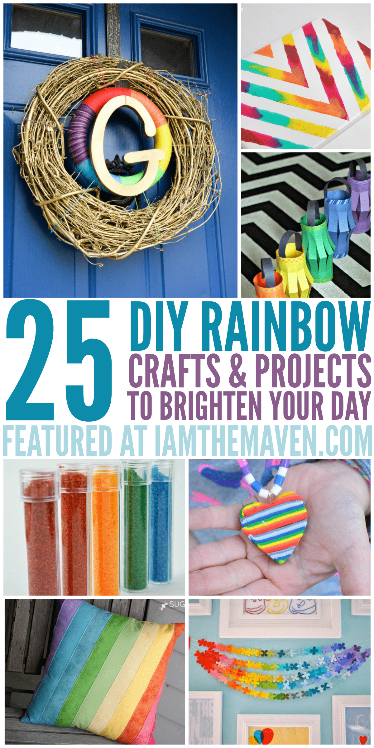 25 DIY Rainbow Crafts and Projects