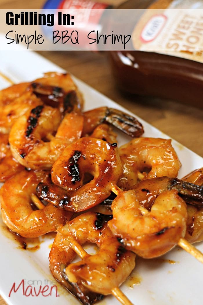 BBQ Shrimp on the stove? Why not if you have a grill pan! #FireUpTheGrill AD