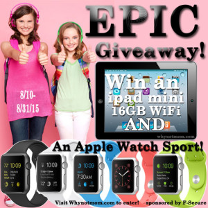 Win an Apple Watch Sport AND an iPad Mini AND 12mo of Freedome®