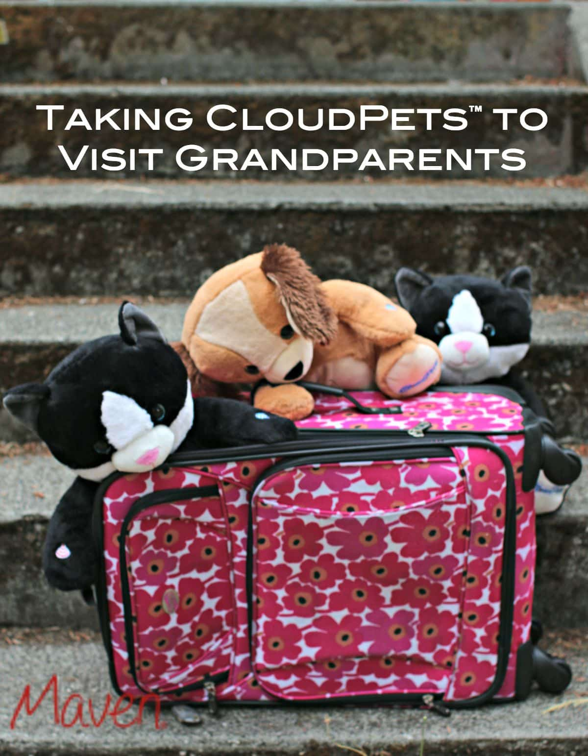It's fun to take CloudPets™ to visit grandparents! Check out our travel tips too! #CloudPetsForever AD