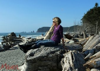 Enjoying the view at Rialto Beach