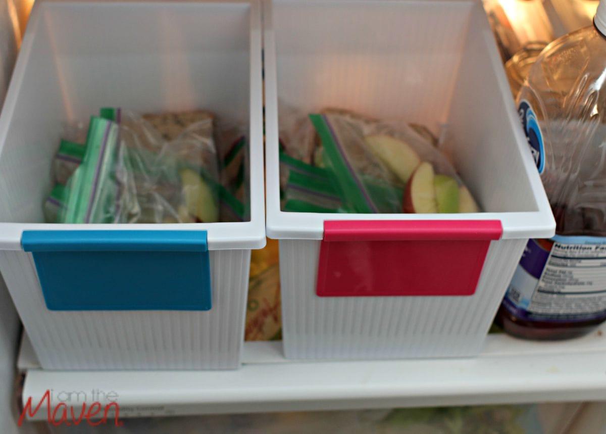 Lunch prep in the frig #ZiplocBackToSchool #AD
