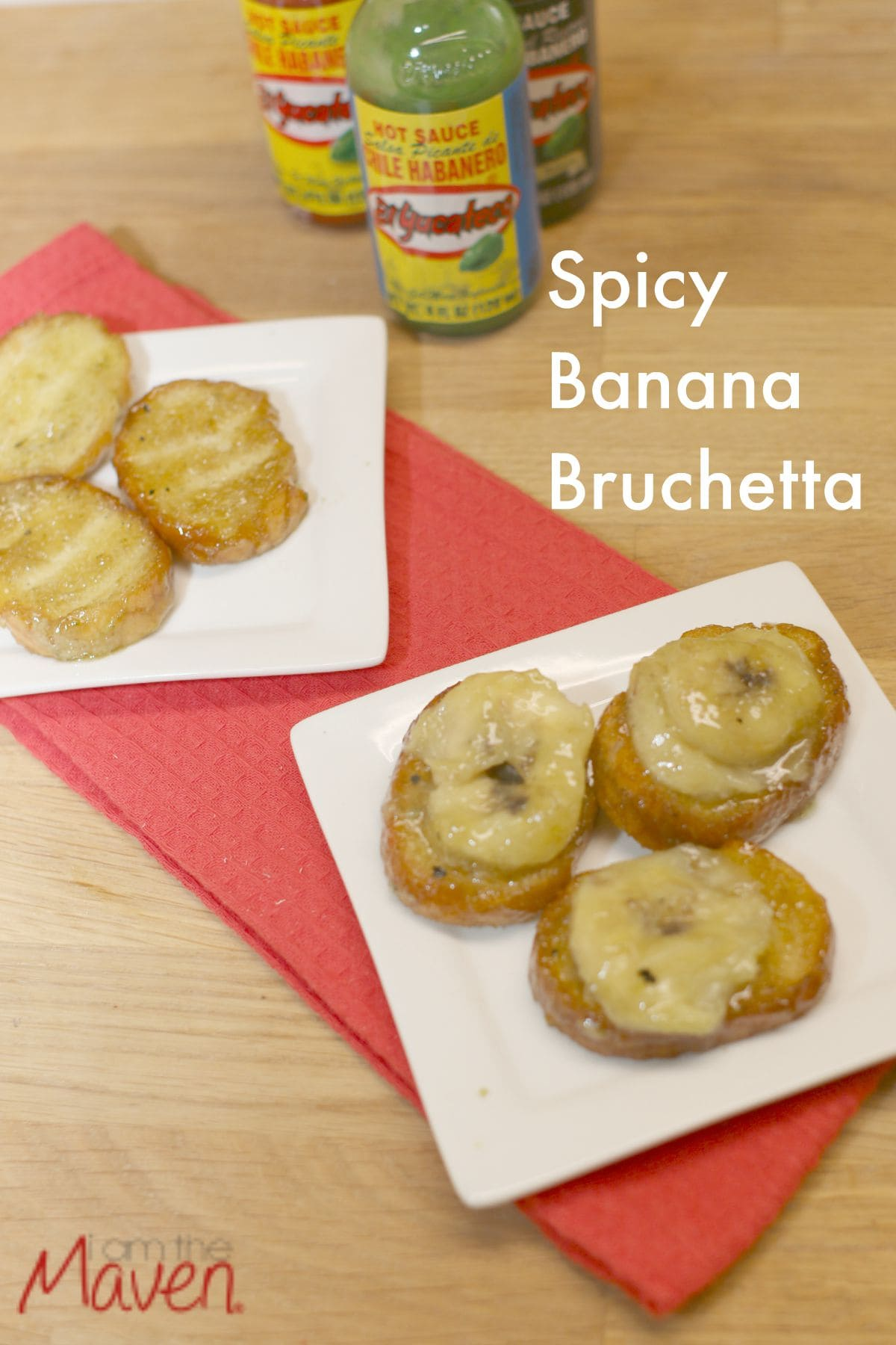 This Grilled Spicy Banana Bruchetta is both sweet and savory and the perfect EASY gameday snack! #KingofFlavor AD