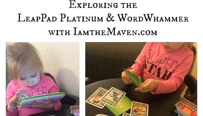 Playing with the LeapFrog Platinum and Word Whammer