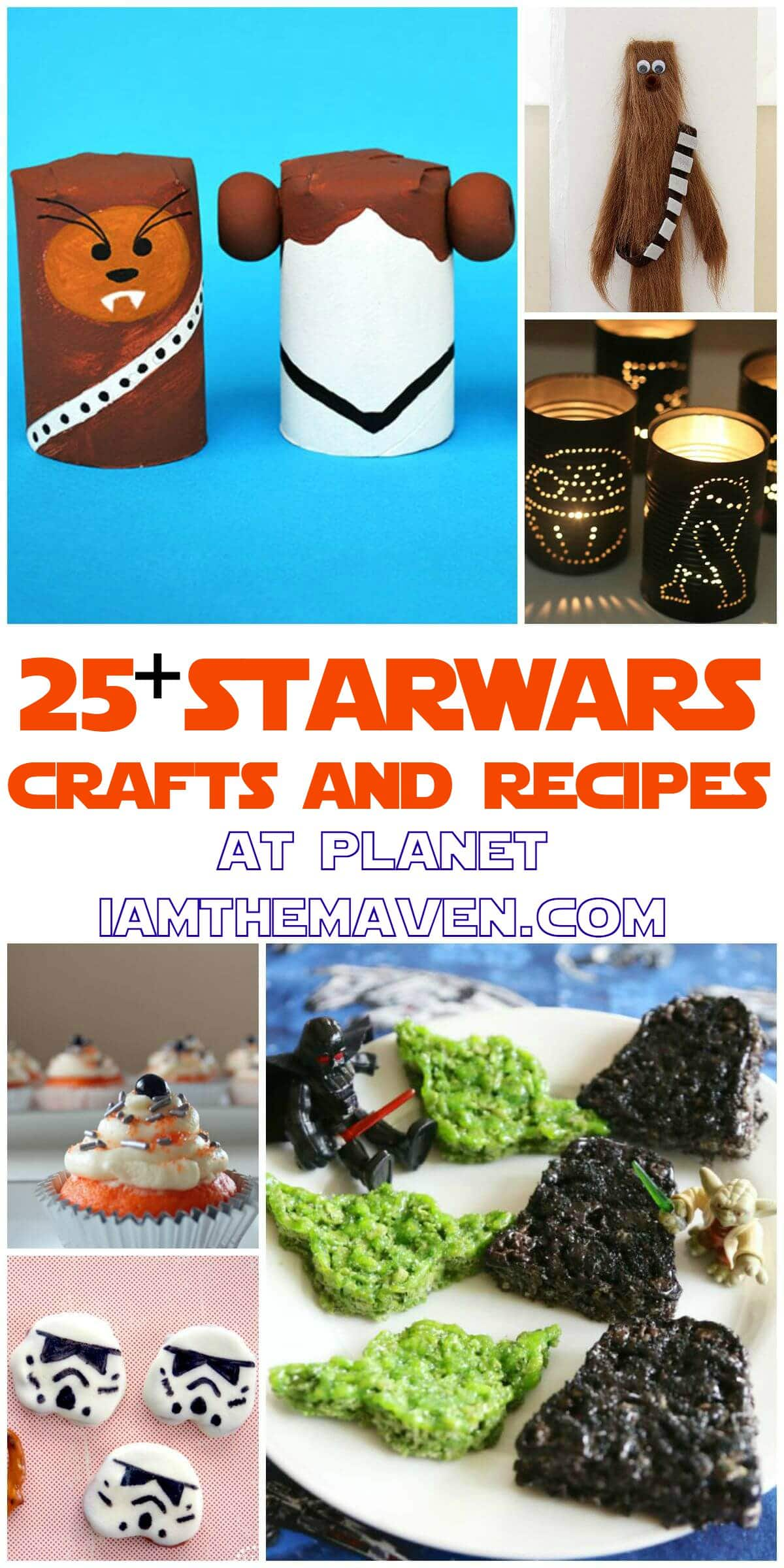 Any good Padawan in training along with their Jedi Master will love this collection of Star Wars Crafts and Recipes. .