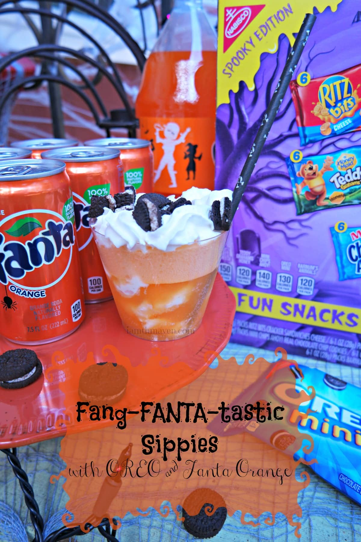 Fang-FANTA-tastic Sippies with OREO and Fanta Orange #SpookySnacks AD