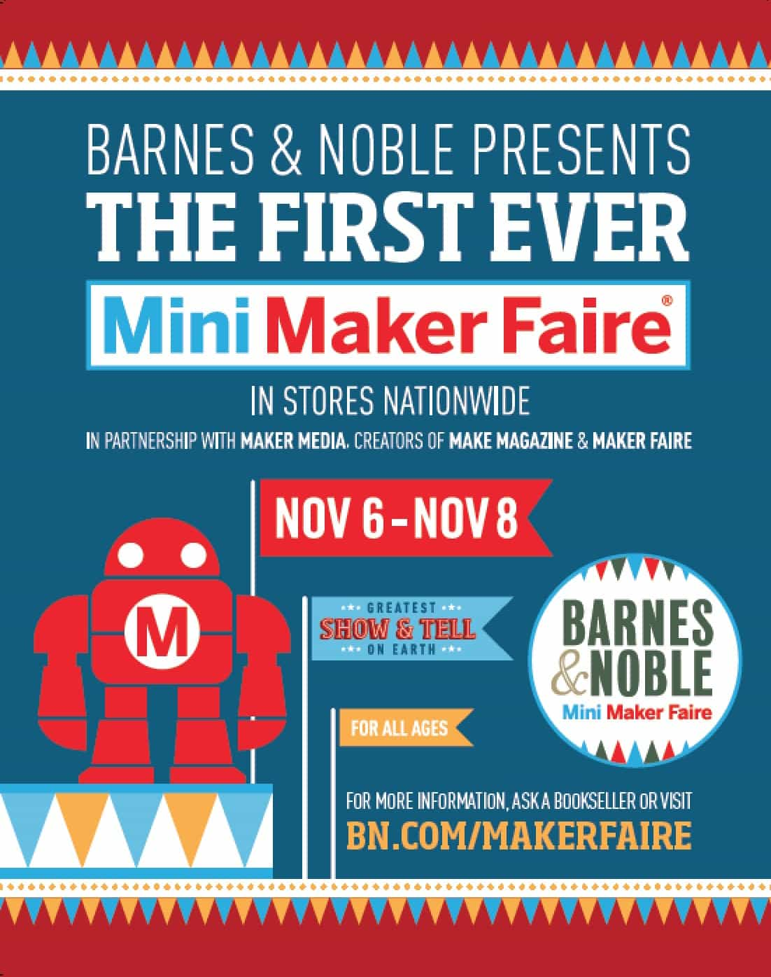 Dont Miss The Mini Maker Faire At Barnes Noble Plus Enter To Win