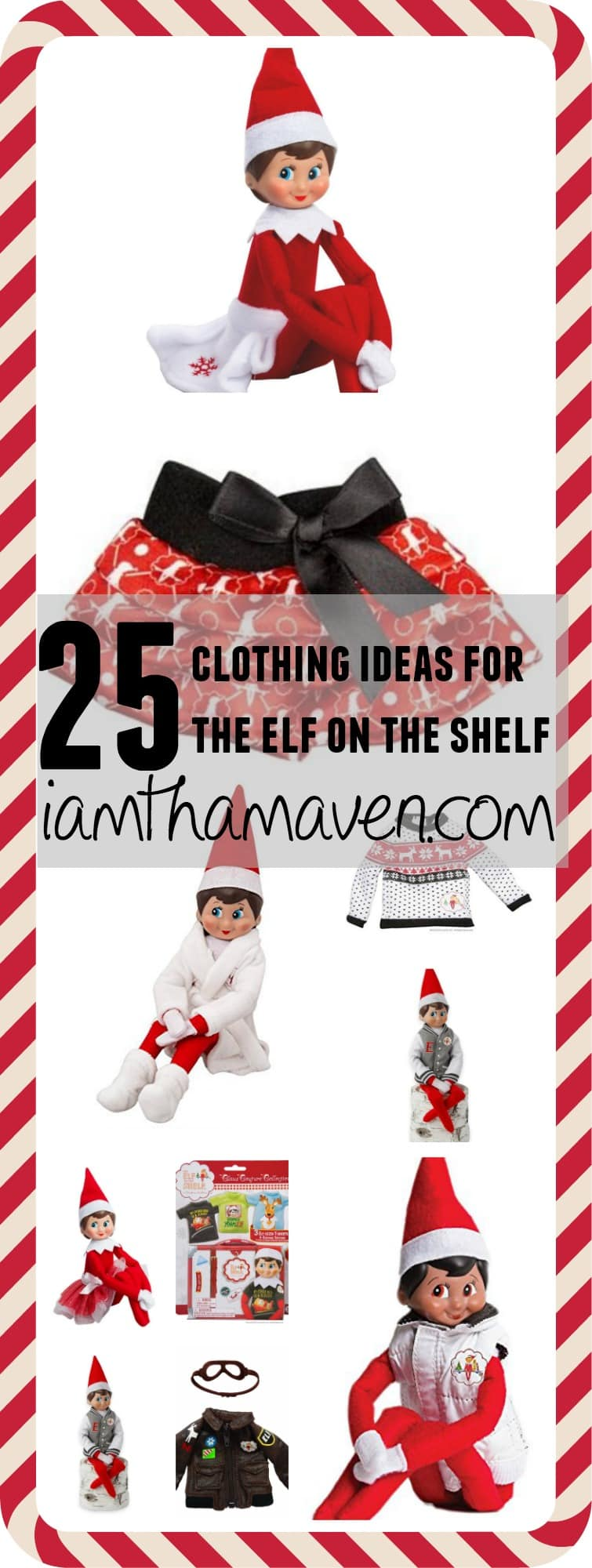 Is your EOTS wearing the same thing as last year? Do you need some Elf on the Shelf Clothes? Here's a list of 25 ideas to get started! Don't be left out! Don't let your elf get caught with nothing to wear!