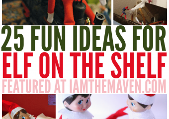 Need more ideas for that pesky, um, loved Elf on the Shelf? I am the Maven® has 25 ideas for you!