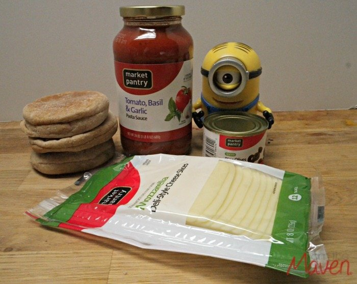 Easy ingredients for Minions pizza #MinionsMovieNight AD