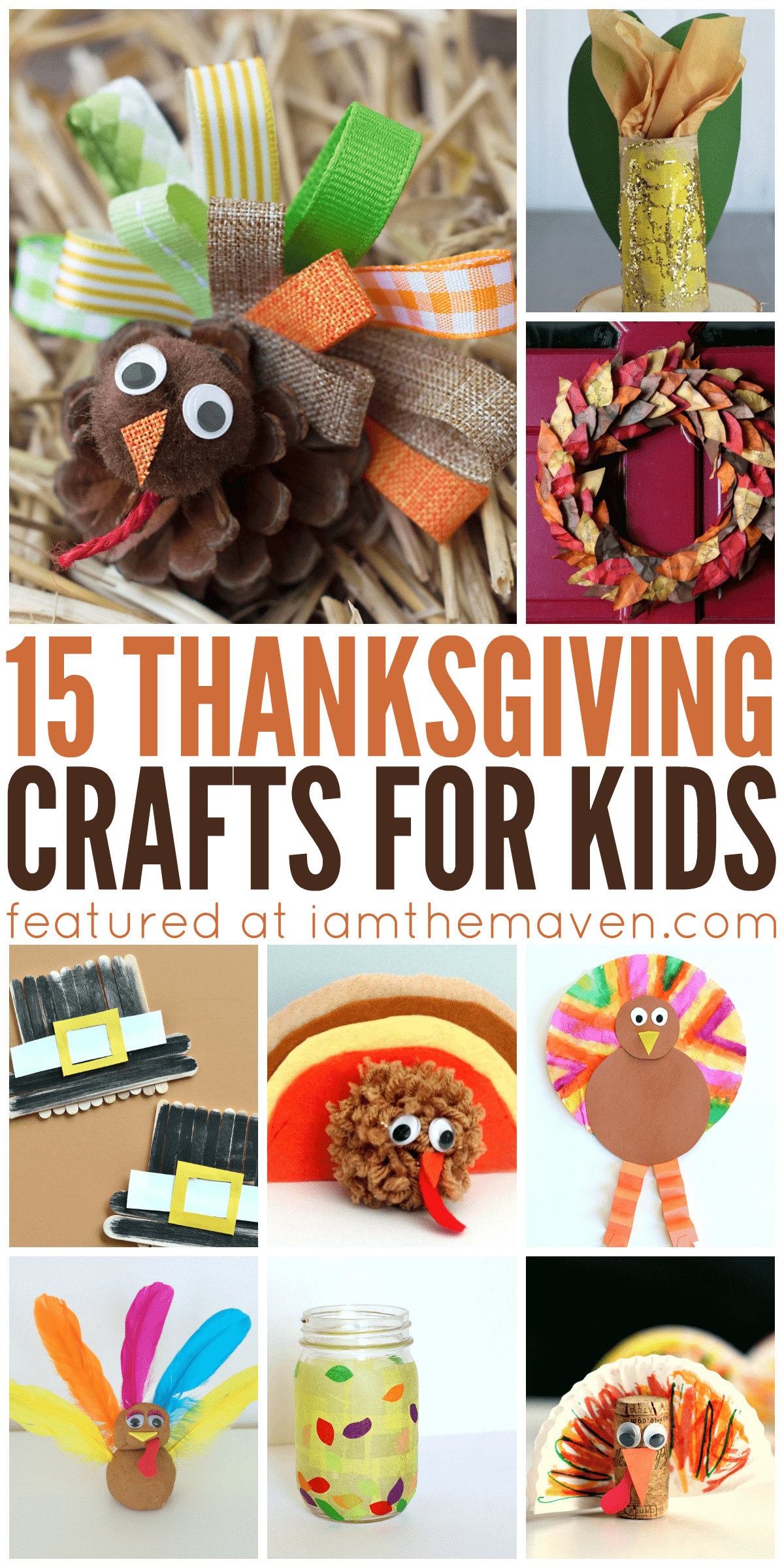 Gobble Gobble! Do not miss these adorable Thanksgiving Crafts for kids!