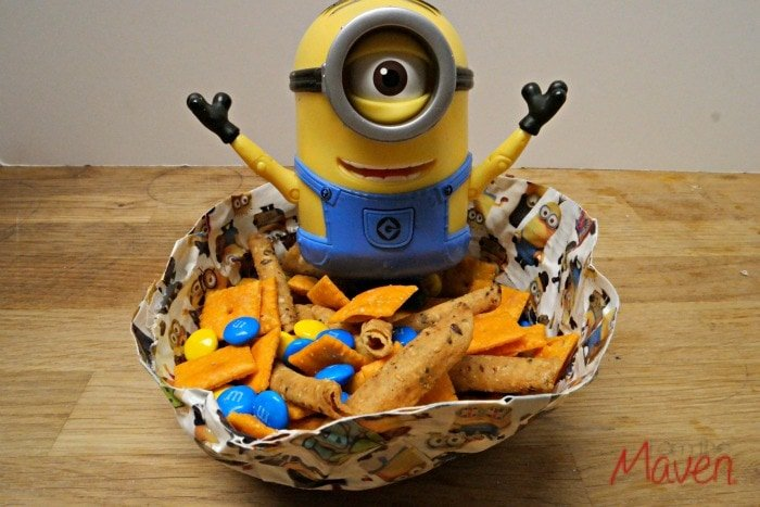 Make this easy Minions Movie Snack Mix! #MinionsMovieNight AD