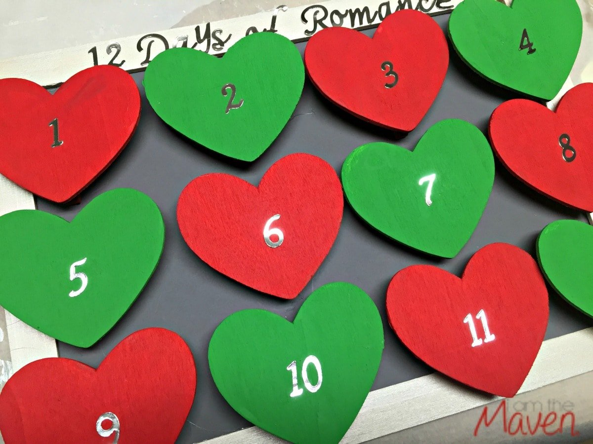 Romantic advent calendar for wife