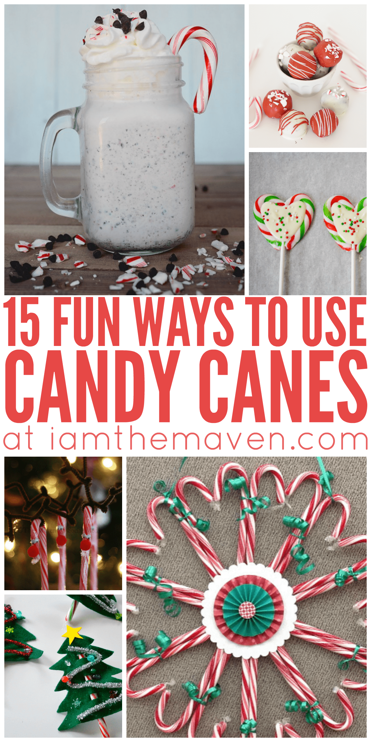 Who doesn't love candy canes! Here are 15 ways to use candy canes!