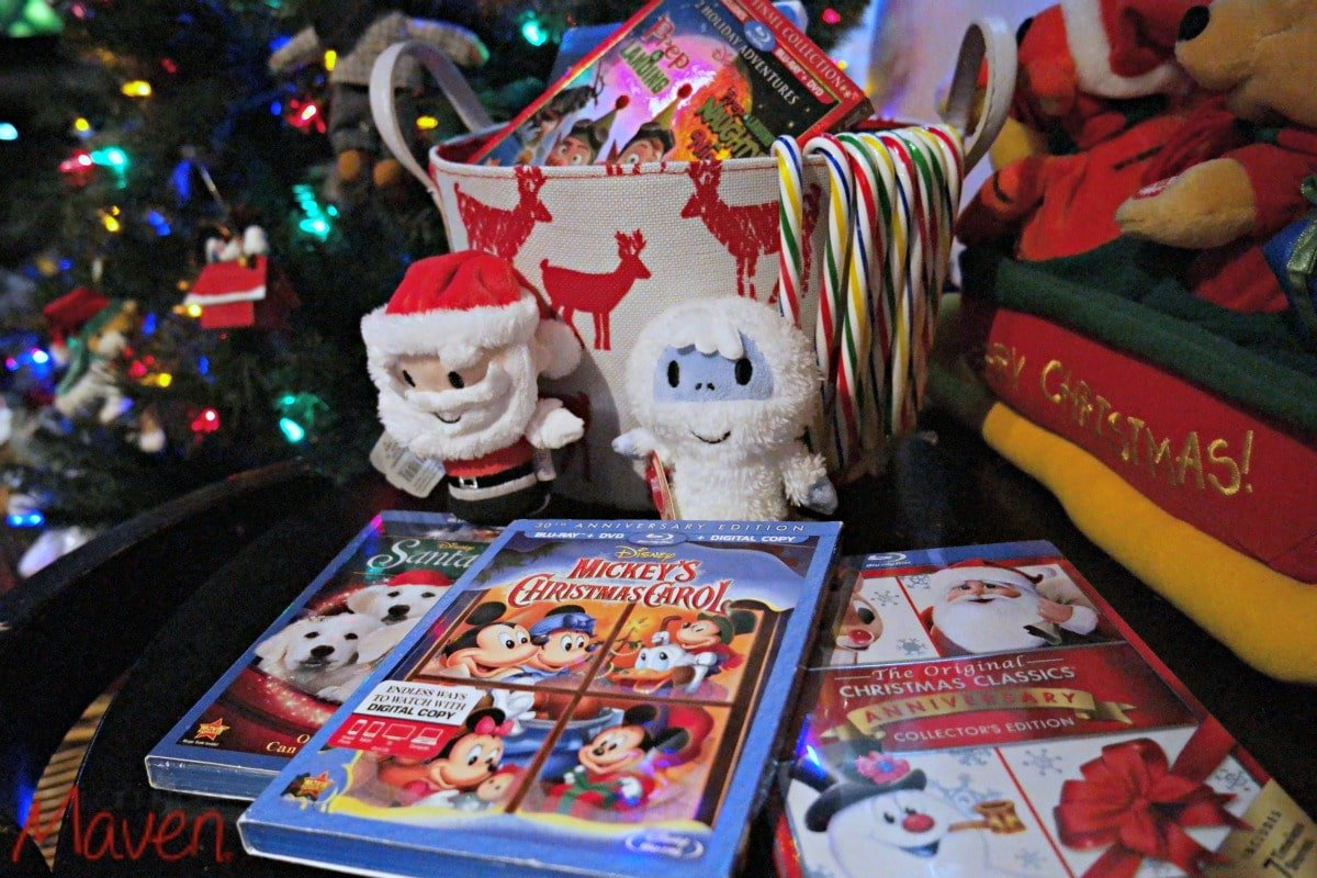 Put out a basket of kids movies - it's holiday self care for the family #HolidayGlow AD