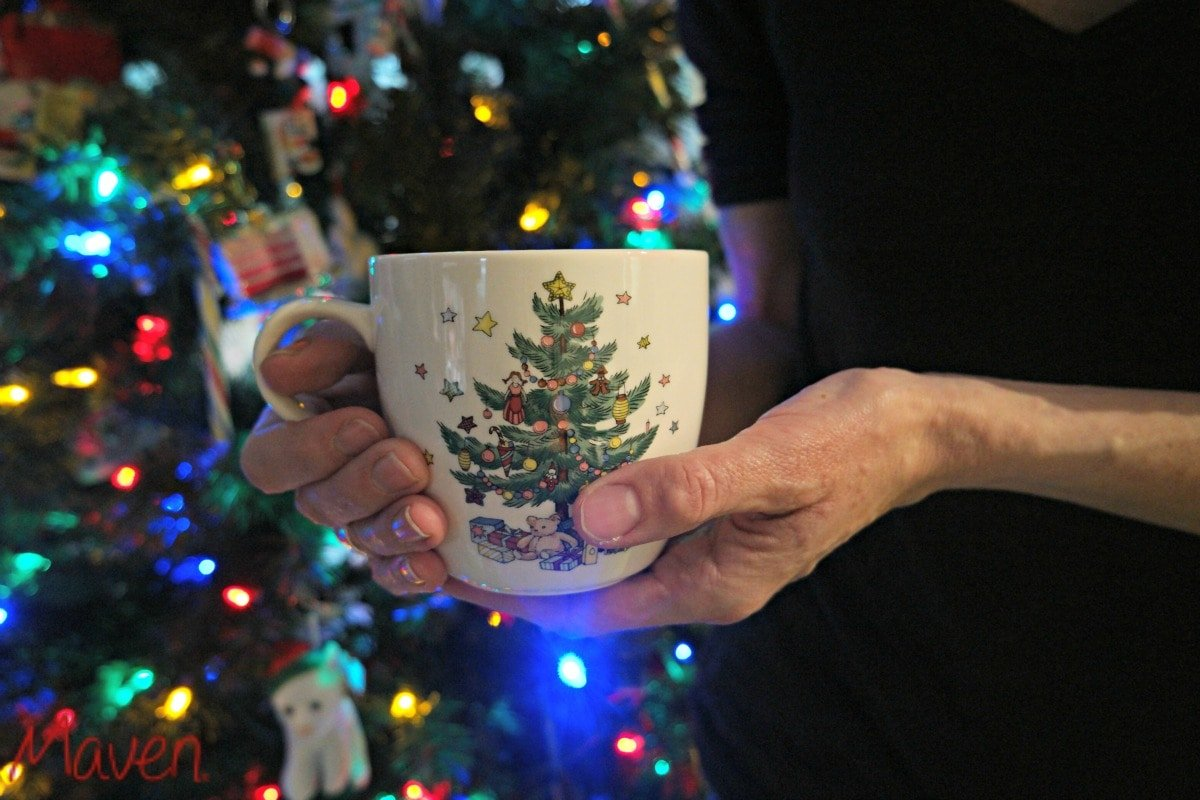 Have a simple Christmas tradition, like using a special mug #HolidayGlow AD