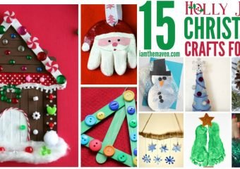 Make these Holly Jolly Christmas Crafts for Kids!