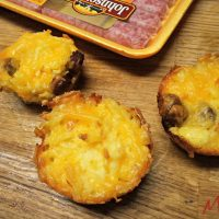 Make these easy muffin cups with Johnsonville Sausages