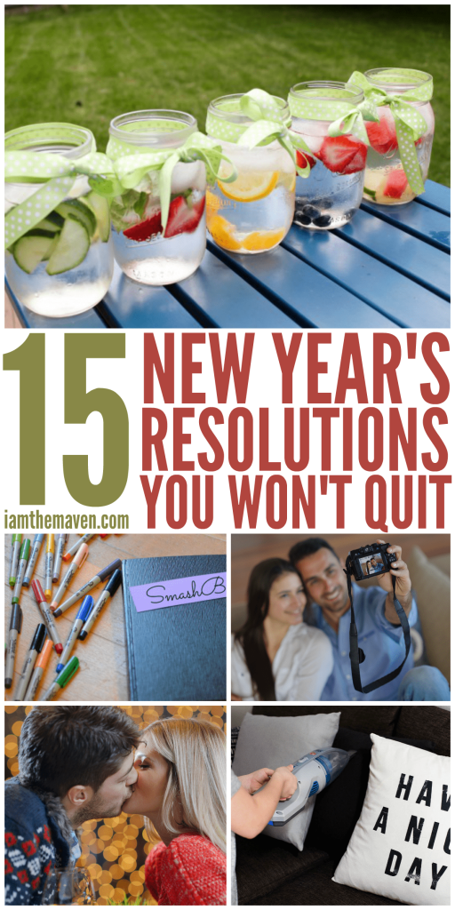 Looking for a New Year's Resolution you'll stick to? Here are 15 ideas!