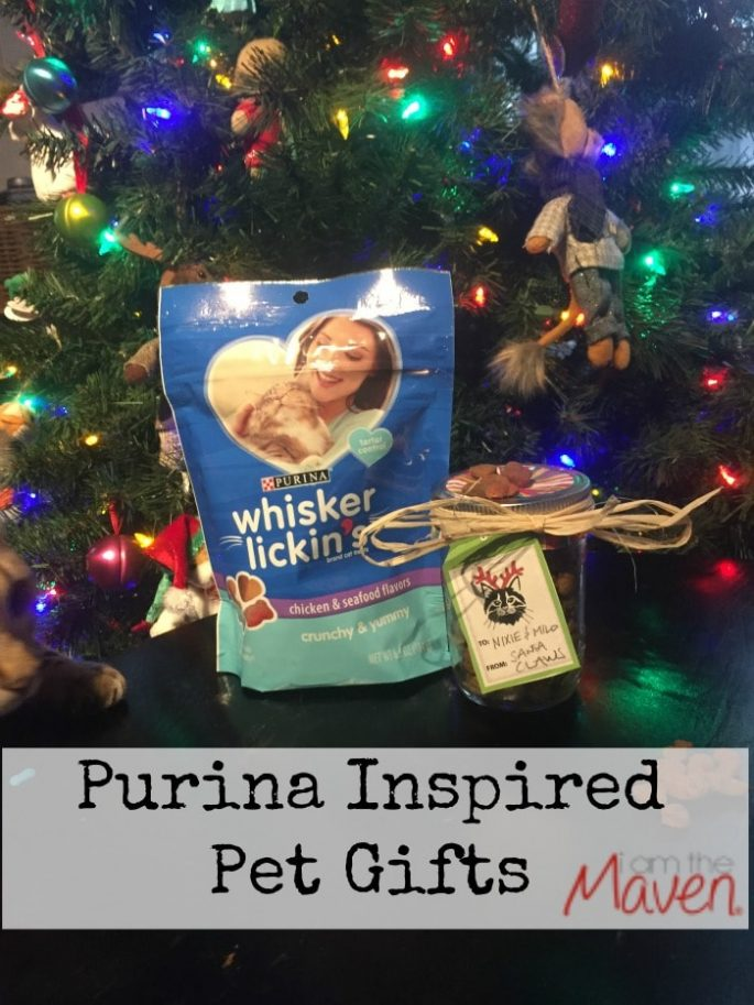 Fun Purina Inspired Pet Gifts. Make this cute treat jar! #SeasonsTreatings AD