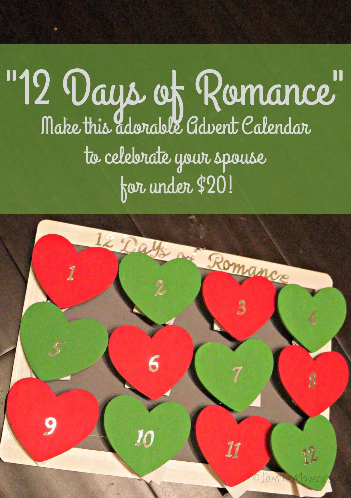 Romantic Calendar Ideas : Days of romantic date ideas i am the maven