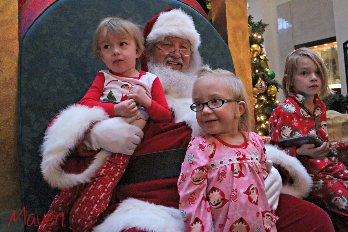 Getting kids to pose with Santa is like herding cats. #LadiesWithPoise
