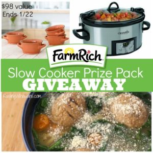 Farm Rich Prize Pack – $25 in FREE product coupons, Programmable slow cooker + 4 soup bowls