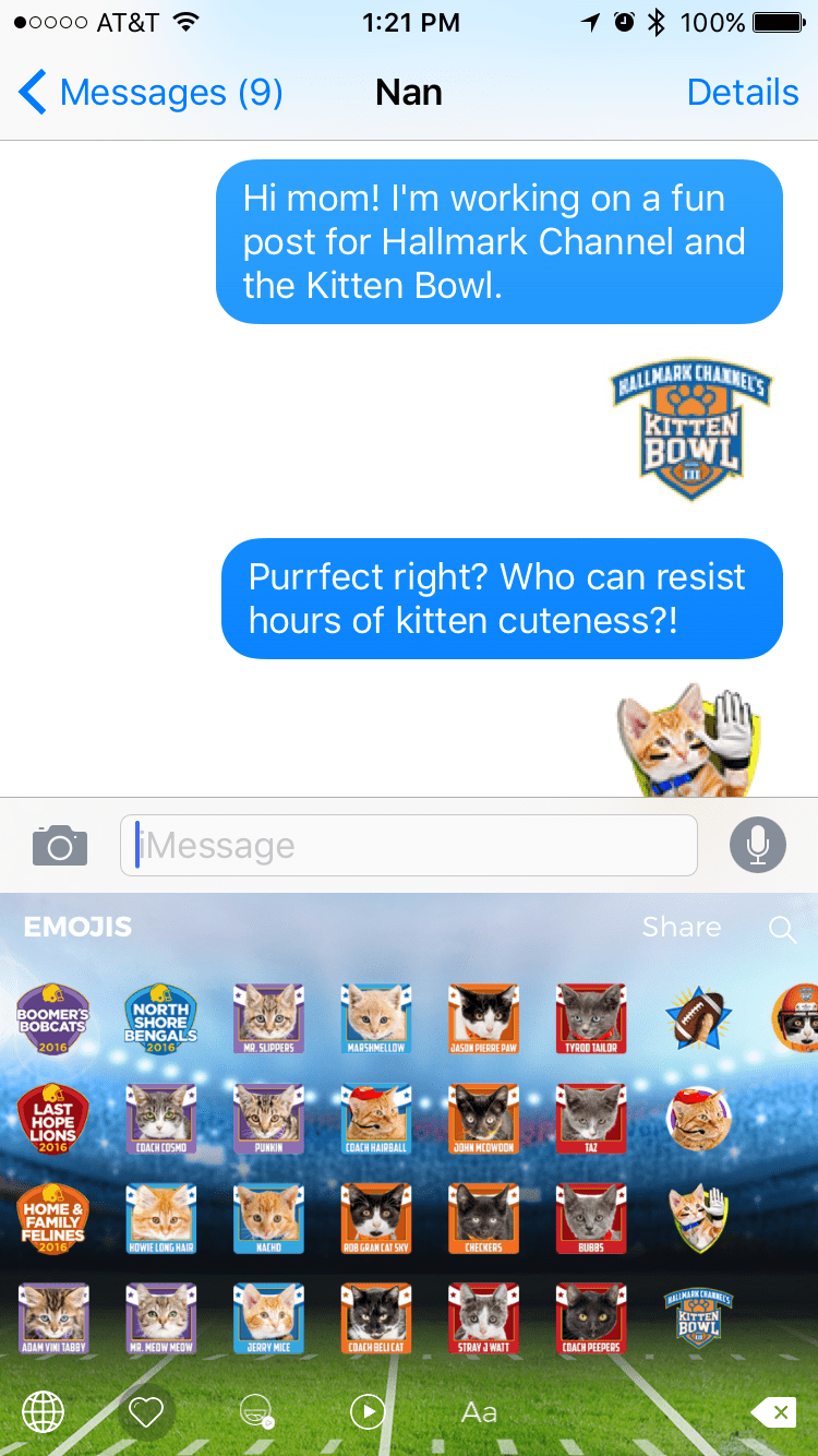 Kitten Bowl Emojis