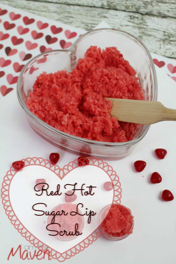 Make this easy Red Hots Sugar Lip Scrub for your Valentine!