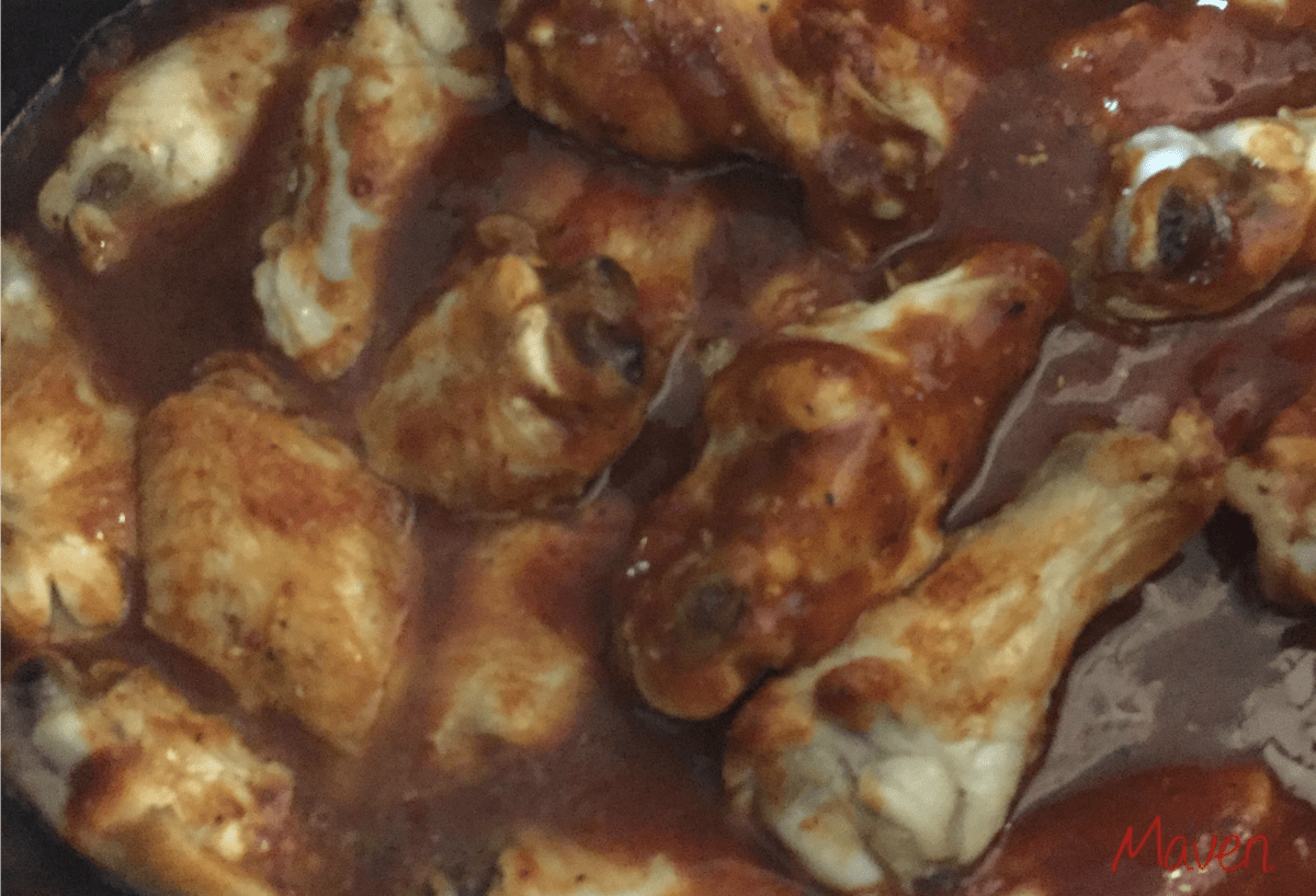 Amazingly yummy BBQ Chicken Wings in the Crockpot!
