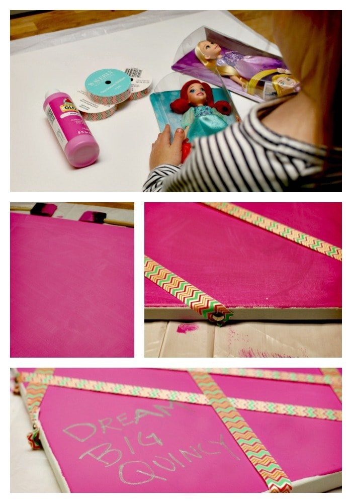 It's easy to make a princess inspired vision board! #DreamBigPrincess #InspireBigDreams AD