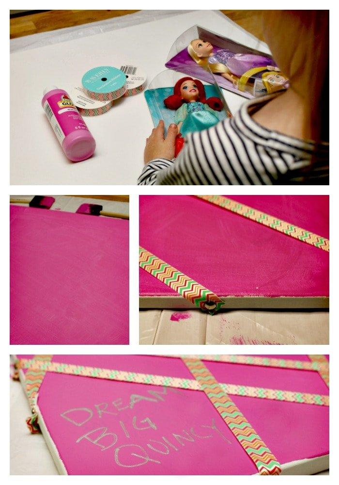 It's easy to make a princess inspired vision board! #DreamBigPrincess #InspireBigDreams AD