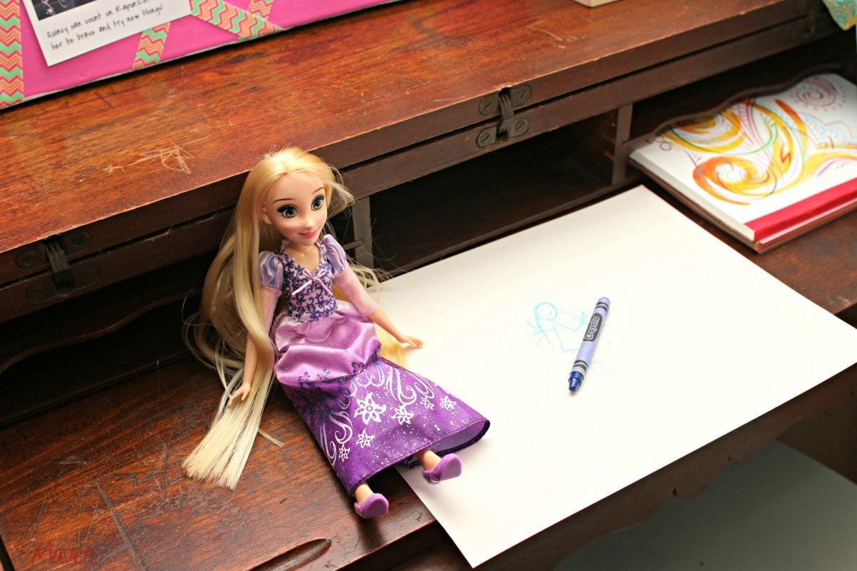 Rapunzel inspires Quincy to try new things! #DreamBigPrincess #InspireBigDreams AD