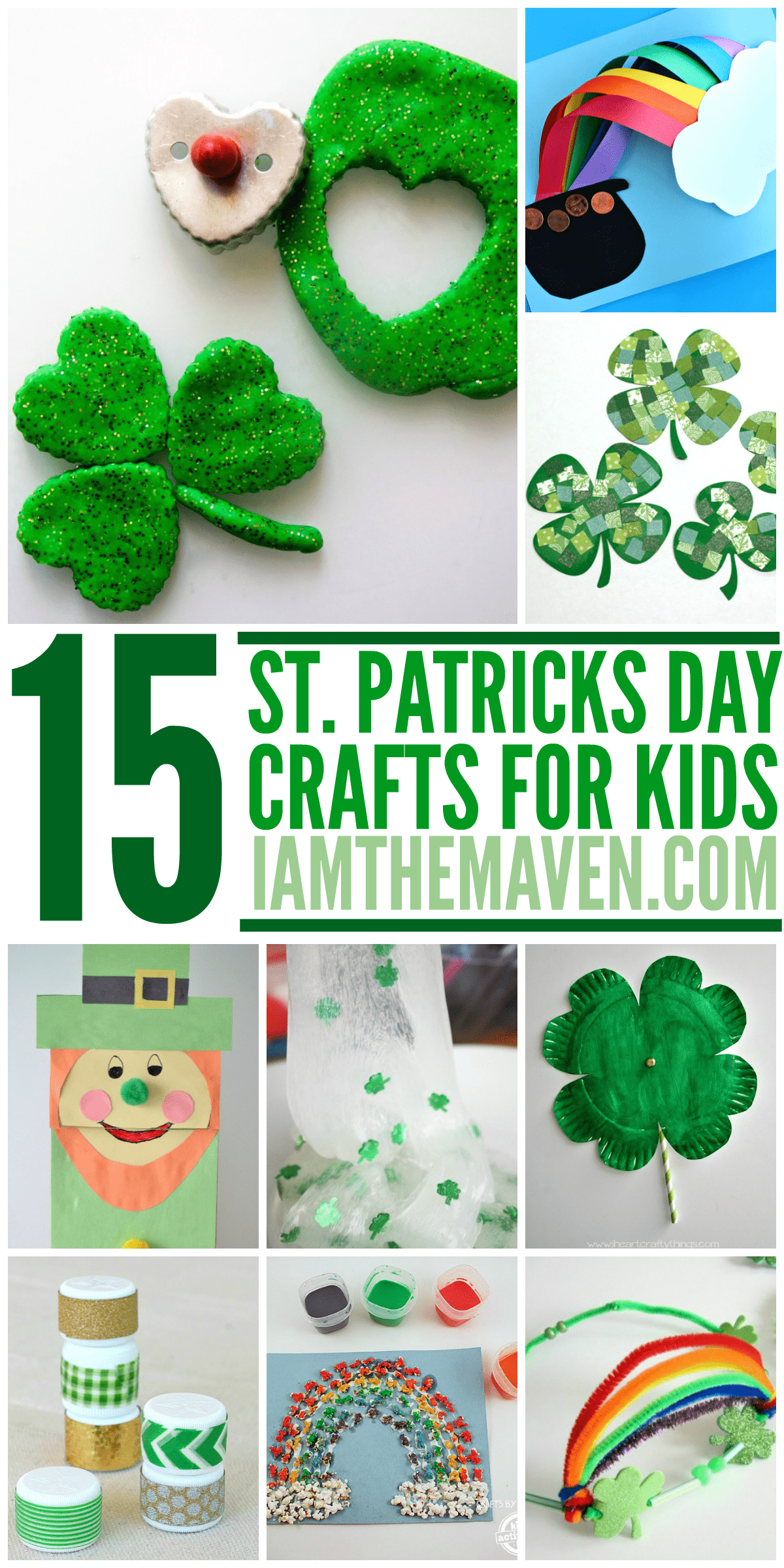 Here are 15 St. Patrick's Day Crafts for Kids