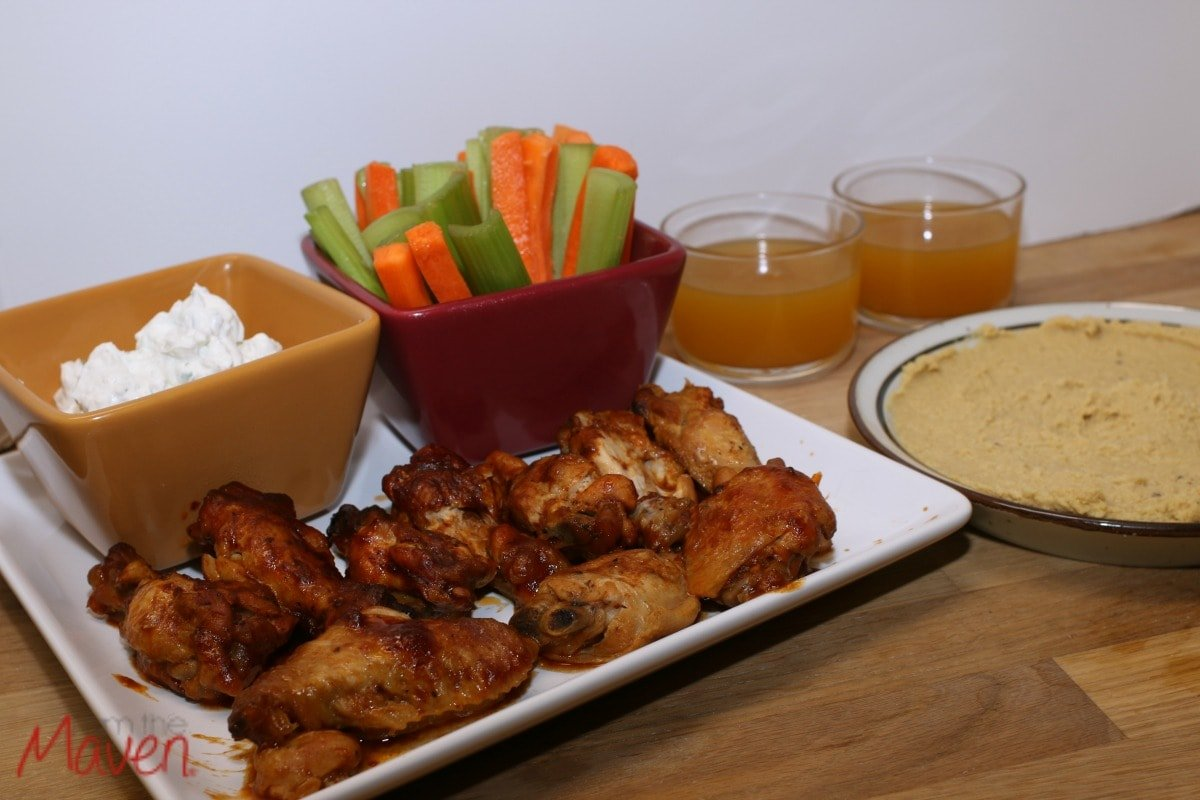 Basketball party food, including bbq crockpot chicken wings