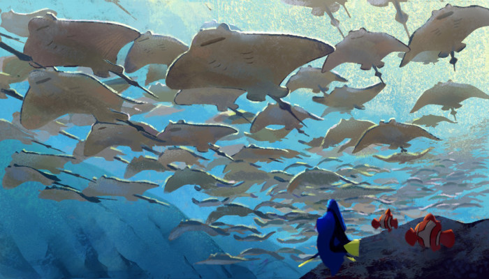 FINDING DORY – Ray Trench Painting (Concept Art) by Artist Rona Liu. ©2016 Disney•Pixar. All Rights Reserved.
