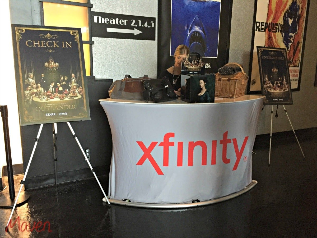 XFINITYScreening check in booth with PRIZES!