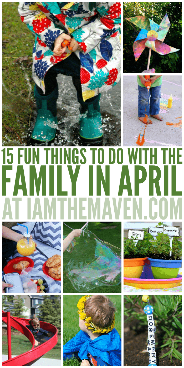 Looking for some fun spring ideas? Here are things to do in April with your family!