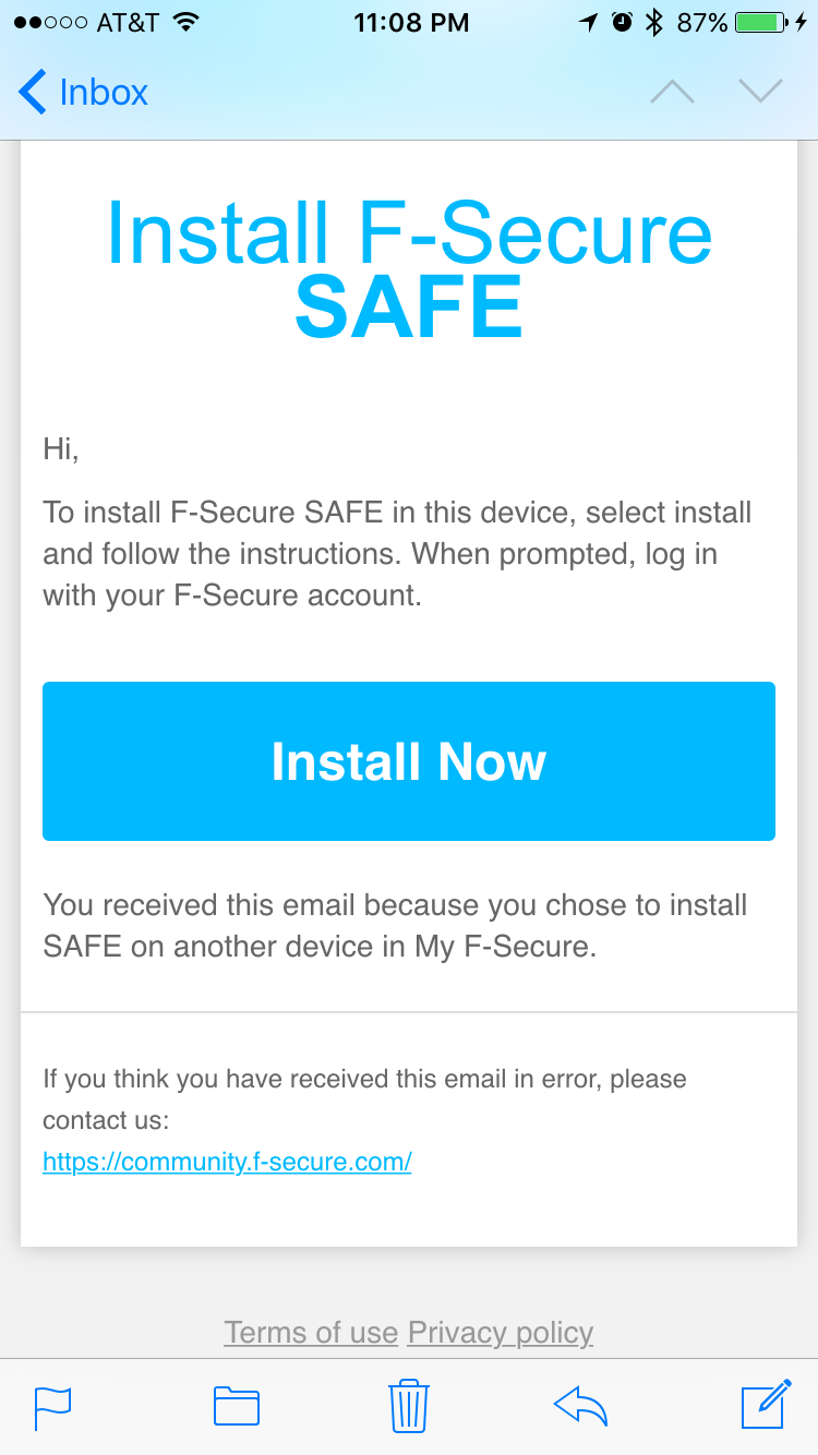 Installing F-Secure Safe is easy and takes just minutes.