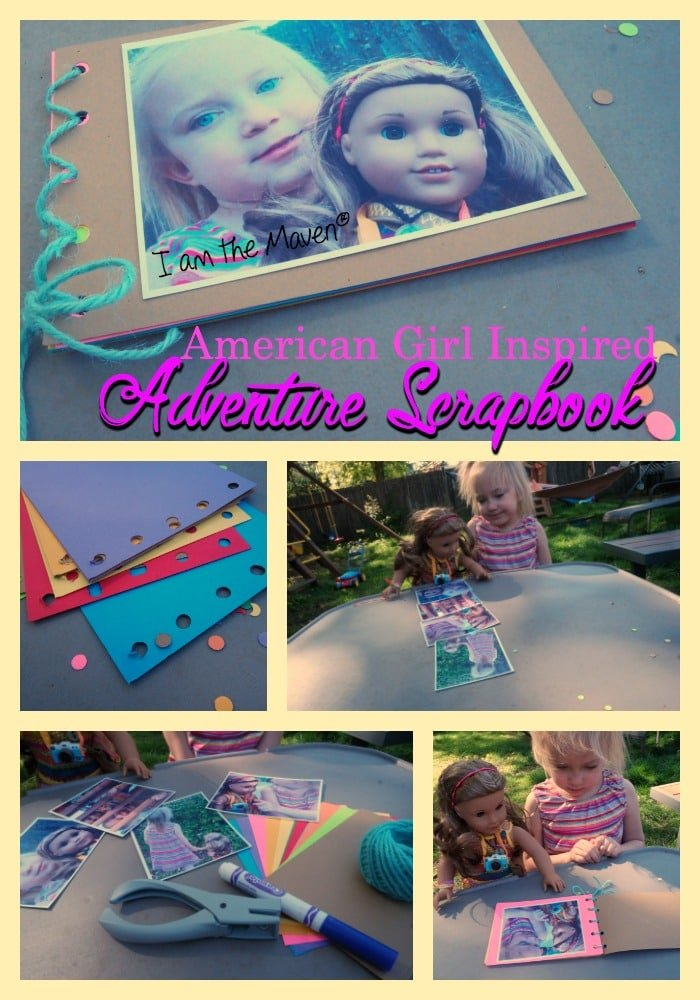 Make your very own American Girl inspired adventure scrapbook!