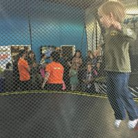 Bouncing on a SpringFree Trampoline